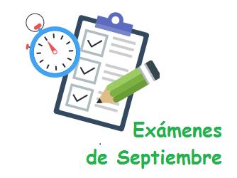 EXÁMENES ESO SEPTIEMBRE 20-21